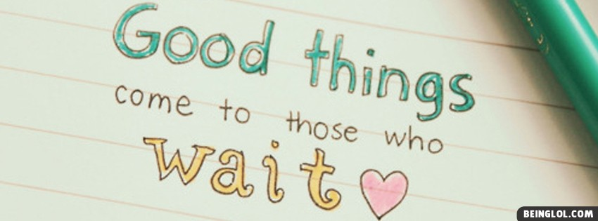 Good Things Facebook Cover