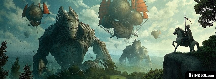 Green Forest Knights Fantasy Art Facebook Cover