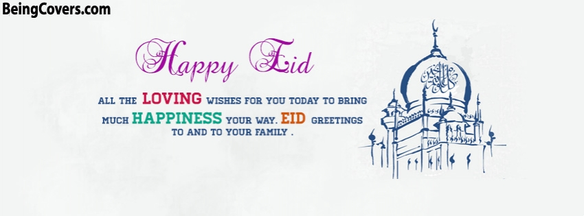 Happy Eid Wishes Facebook Cover