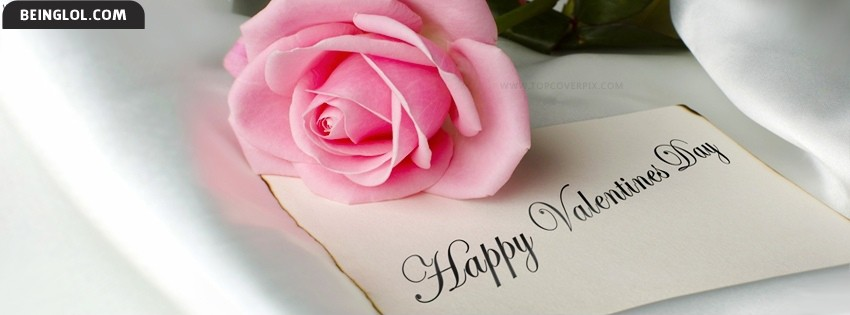 Happy Valentine Rose Facebook Cover