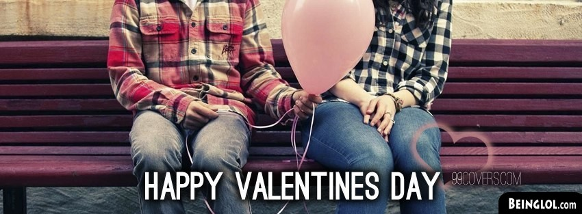 Happy Valentines Day Balloon Facebook Cover
