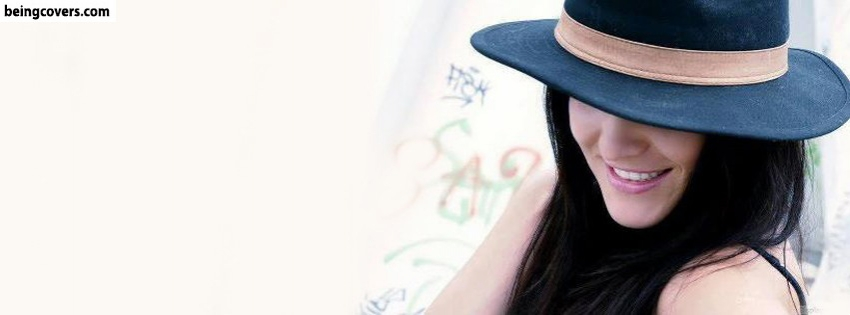 Hat Girl Smiling Facebook Cover