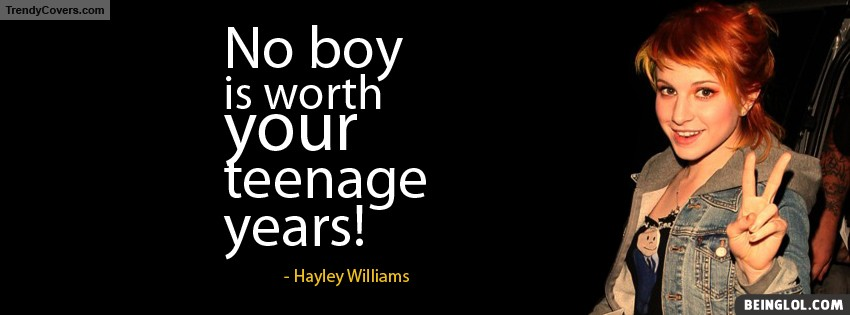 Hayley Williams Quote Facebook Cover