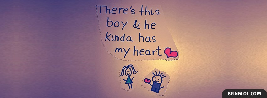 He Kinda Has My Heart Facebook Cover