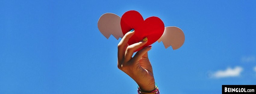 Heart Wings Sky Facebook Covers Cover