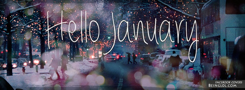 Hello January Facebook Cover