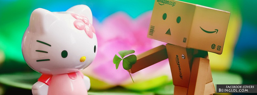 Hello Kitty And Danbo Facebook Cover