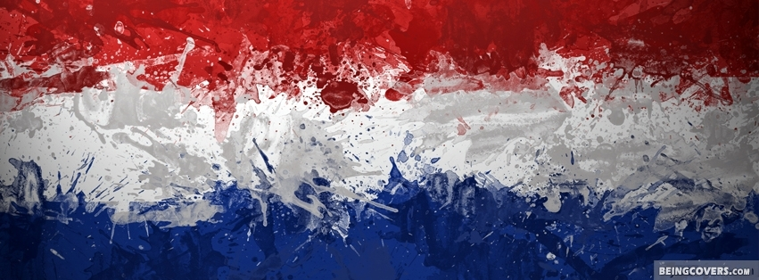 Holland Paint Flag Facebook Cover