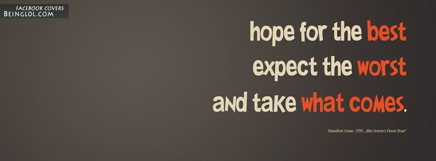Hope Saying About Life Facebook Cover