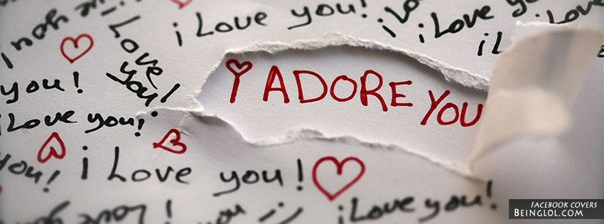 I Adore You Facebook Cover