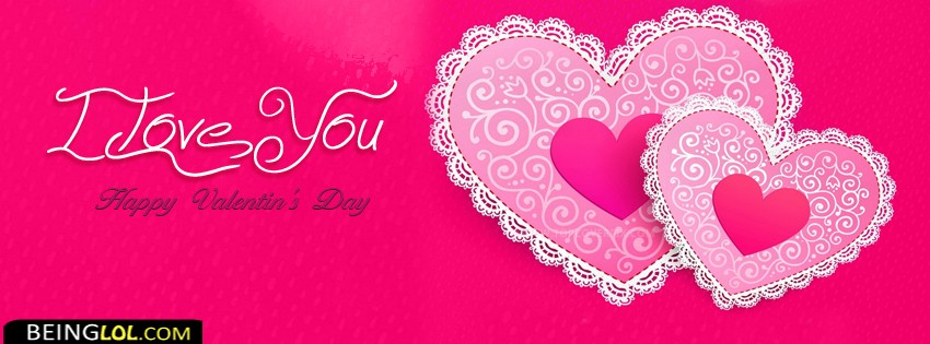 I Love You Happy Valentines Day Facebook Cover