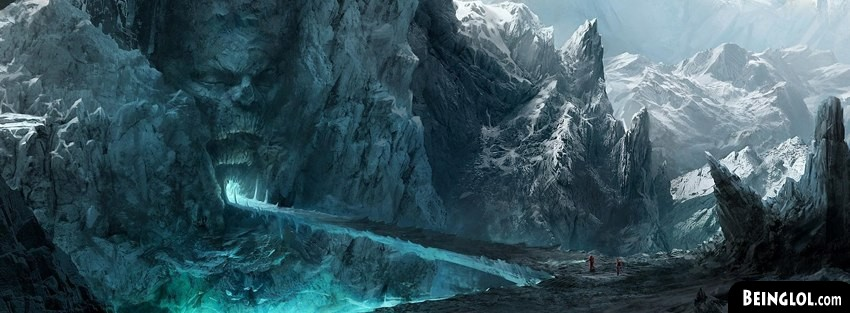 Ice Mountains Fantasy Art Cover