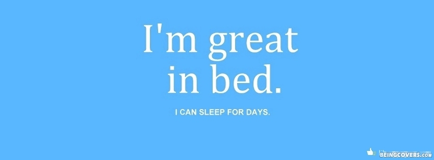 I\'m great in bed Cover