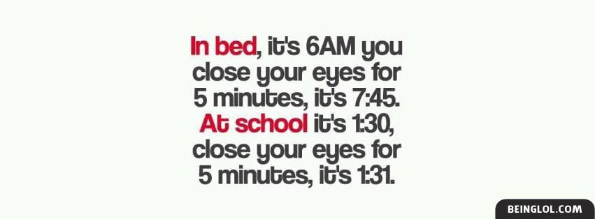 In Bed In School Facebook Cover