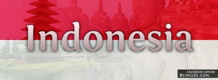 Indonesia Flag Cover