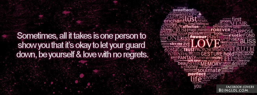 It's Okay To Let Your Guard Down Facebook Cover