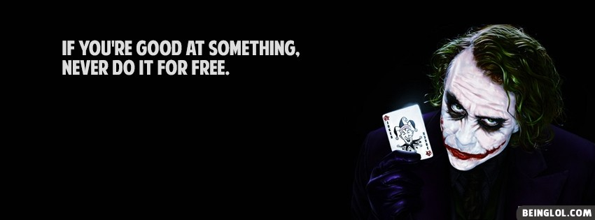 Joker Quote Facebook Cover