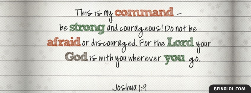 Joshua 1:9 Facebook Cover