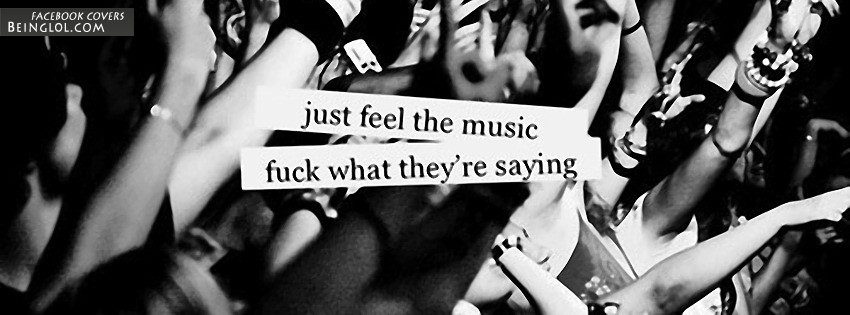 Just Feel The Music Facebook Cover