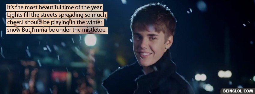 Justin Bieber Mistletoe Lyrics Cover
