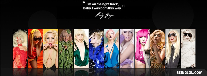 Lady Gaga Panels Facebook Cover