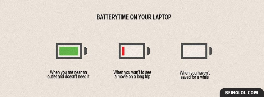 Laptop Battery Time Facebook Cover