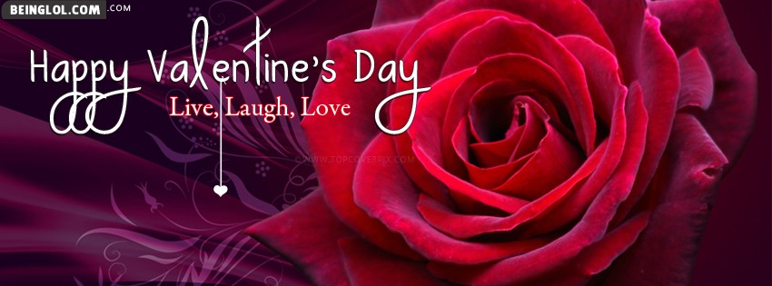 Live Laugh Love Valentines Day Facebook Cover