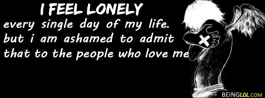 lonely quote facebook cover Cover