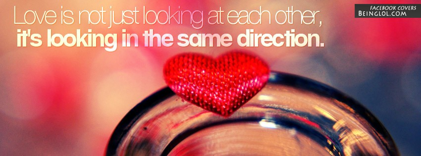 Looking In The Same Direction Facebook Cover