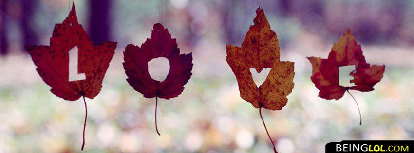 Love In Leaves Facebook Cover