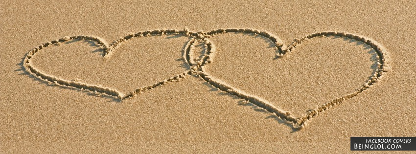 Love In The Sand Facebook Cover