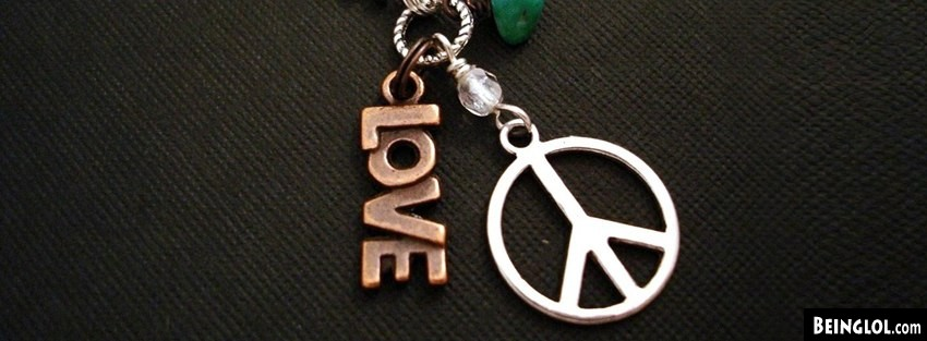Love Peace Hippie Necklace Facebook Covers Facebook Cover
