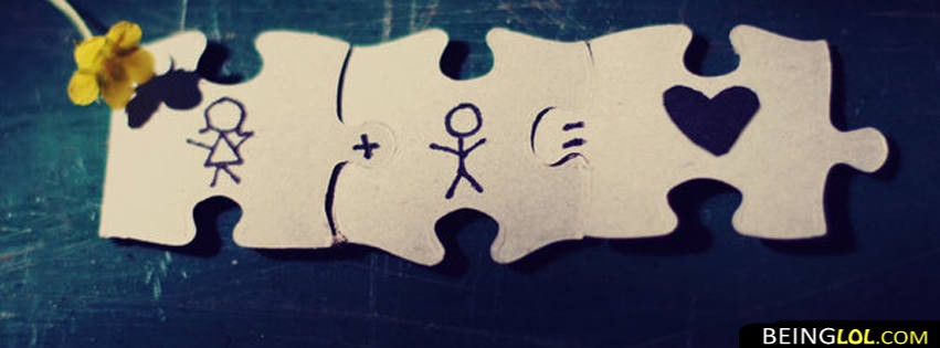 Love Puzzle Cover Facebook Cover