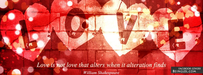 Love Quotes Facebook Cover