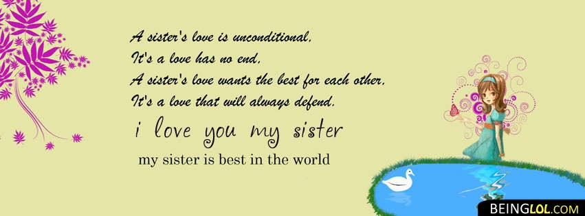 love you sister facebook cover Cover