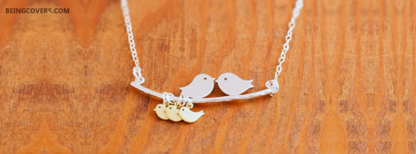 Love Couple Necklace Facebook Cover