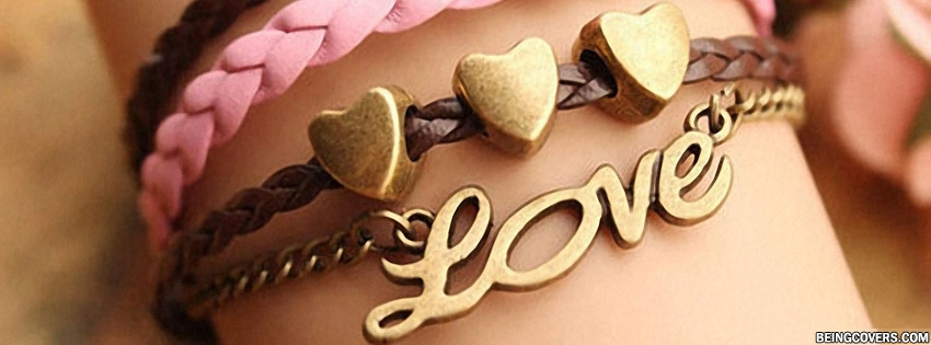 Love Hearts Bracelet Facebook Cover