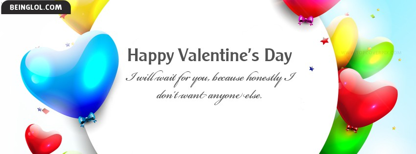 Lovely Happy Valentines Day Facebook Cover