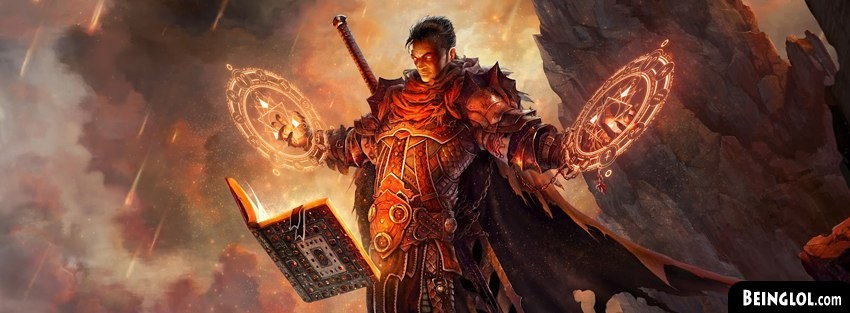 Magic Book Fantasy Art Facebook Cover