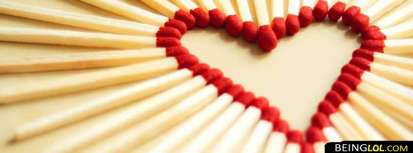 Match Sticks Heart Facebook Cover