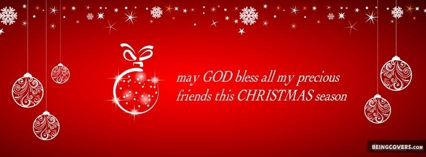 May God Bless All My Precious Friends This Christmas Season Facebook Cover