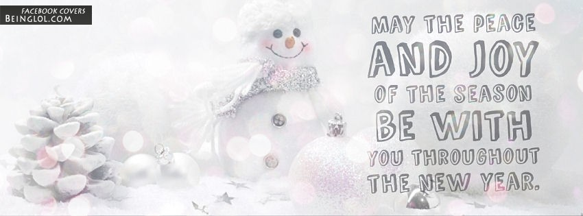 May The Peace And Joy Of The Season Facebook Cover