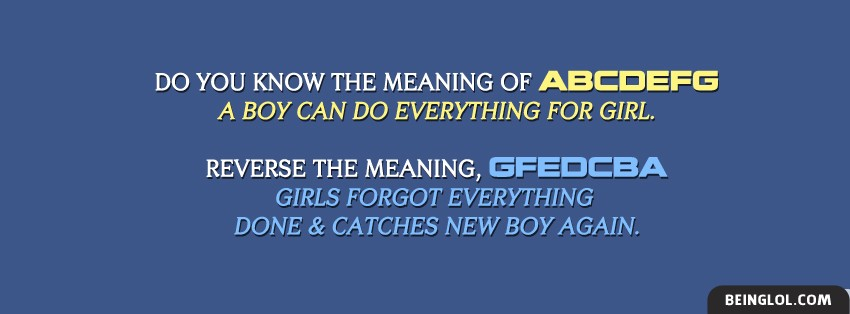 Meaning Of ABCDEFG Facebook Cover