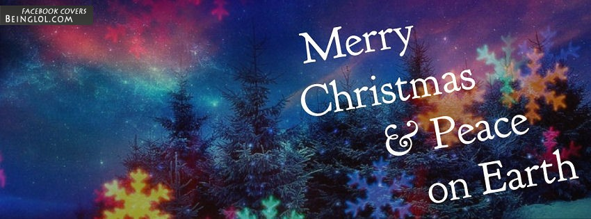 Merry Christmas And Peace On Earth Facebook Cover
