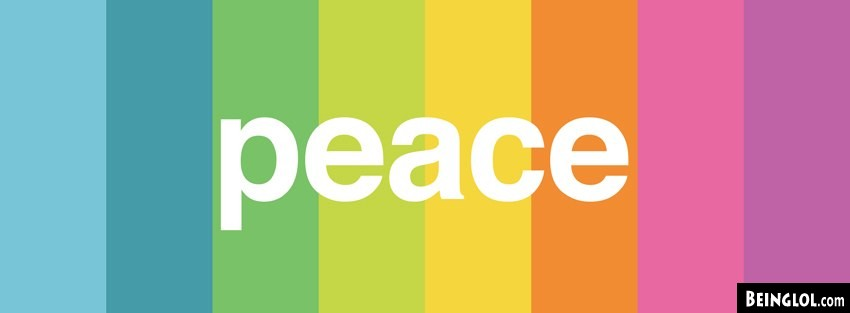 Minimalistic Peace Rainbow Facebook Covers Cover
