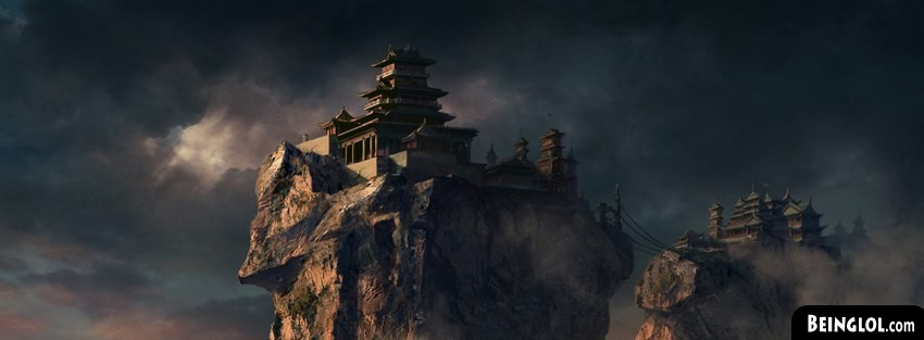 Mountains Castles Fantasy Art Facebook Cover