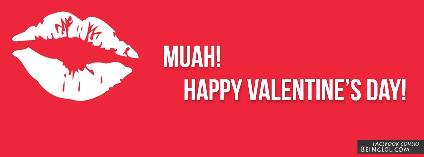 Muah! Valentines Day Facebook Cover