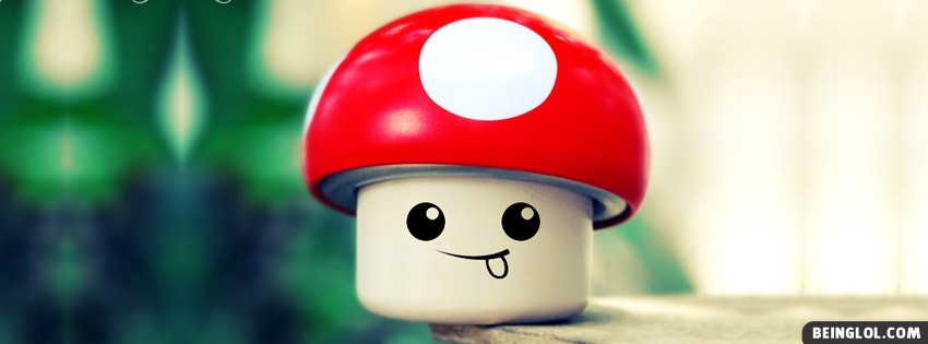 Mushroom Smiley Facebook Cover