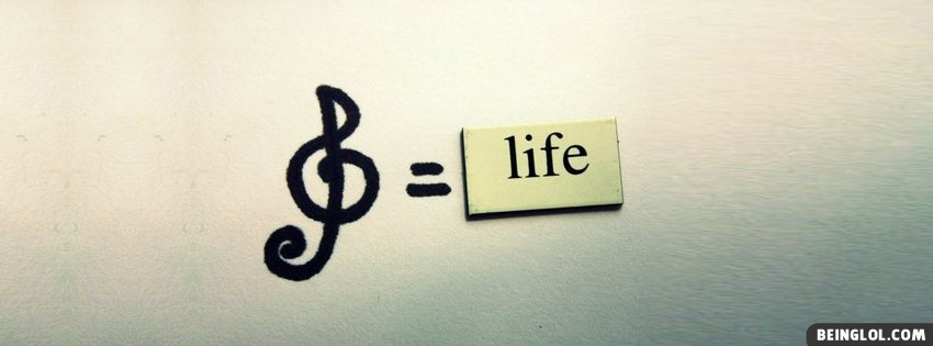 Music = Life Facebook Cover