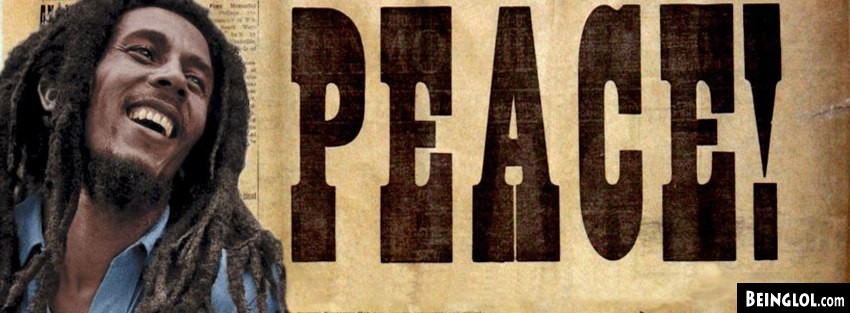 Music Peace Bob Marley Facebook Cover